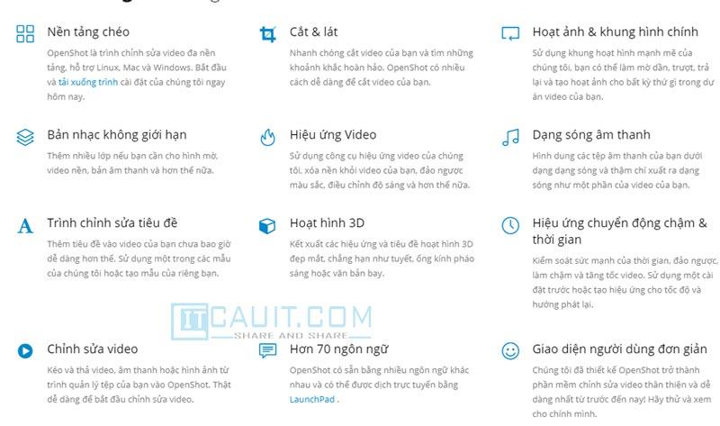 OpenShot –Phần mềm chỉnh sửa video trên máy tính tốt nhất